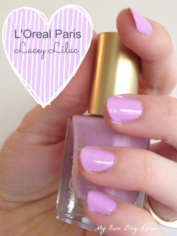 L'Oreal Paris Lacey Lilac Versailles Romance Collection Nail Polish