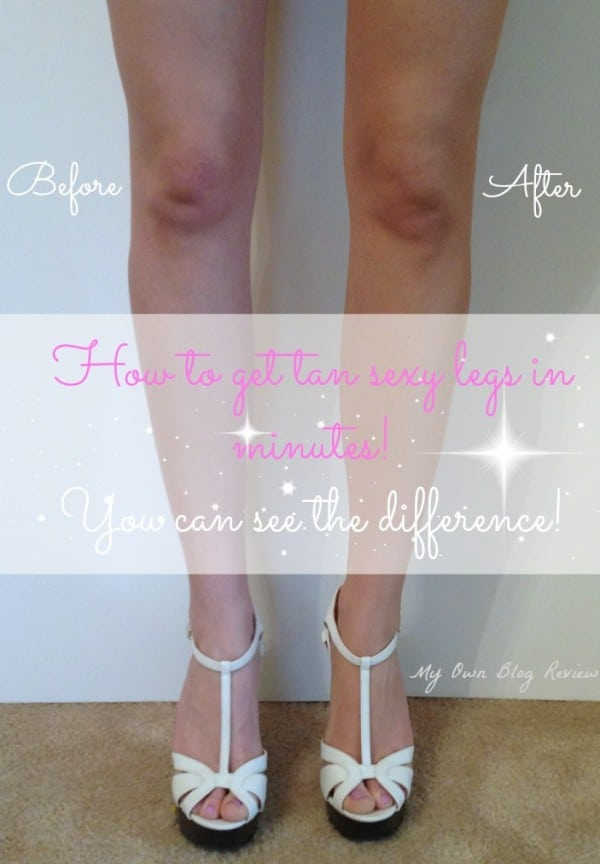 How to get tan sexy legs in minutes! You can see the difference immediately! Embellishmints.com