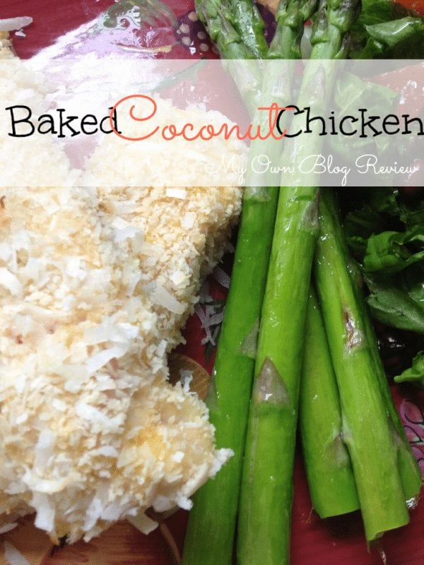 Baked Coconut Chicken Recipe. The perfect alternative to frying your coconut chicken. You will love this recipe! www.Embellishmints.com