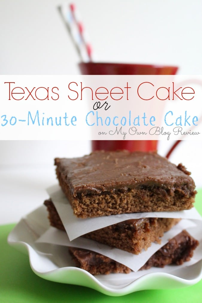 Texas Sheet Cake or 30-Minute Cake, whichever you like to call it, it's the Best Chocolate Cake ever!