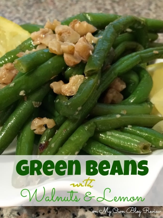 Green Beans with Walnuts and Lemon - Embellishmints