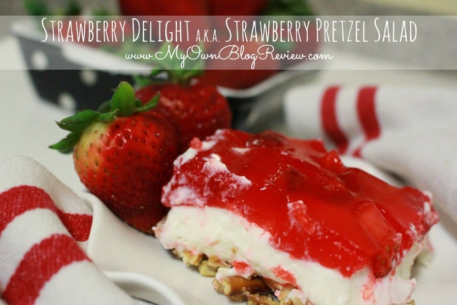 Strawberry Delight aka Strawberry Pretzel Salad Dessert recipe is goes beyond using cool whip and jell-o. It's better tasting and just as easy to make. embellishmints.com