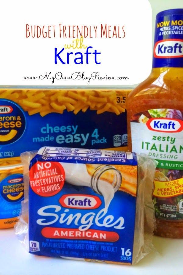 Budget friendly meals with KRAFT on embellishmints.com #shop