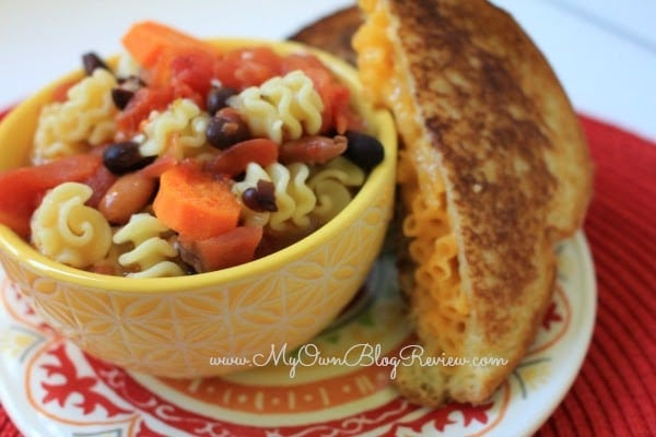 Zesty Italian Tomato Soup and Macaroni and Cheese Grilled Cheese. Budget friendly meals with KRAFT on embellishmints.com #shop