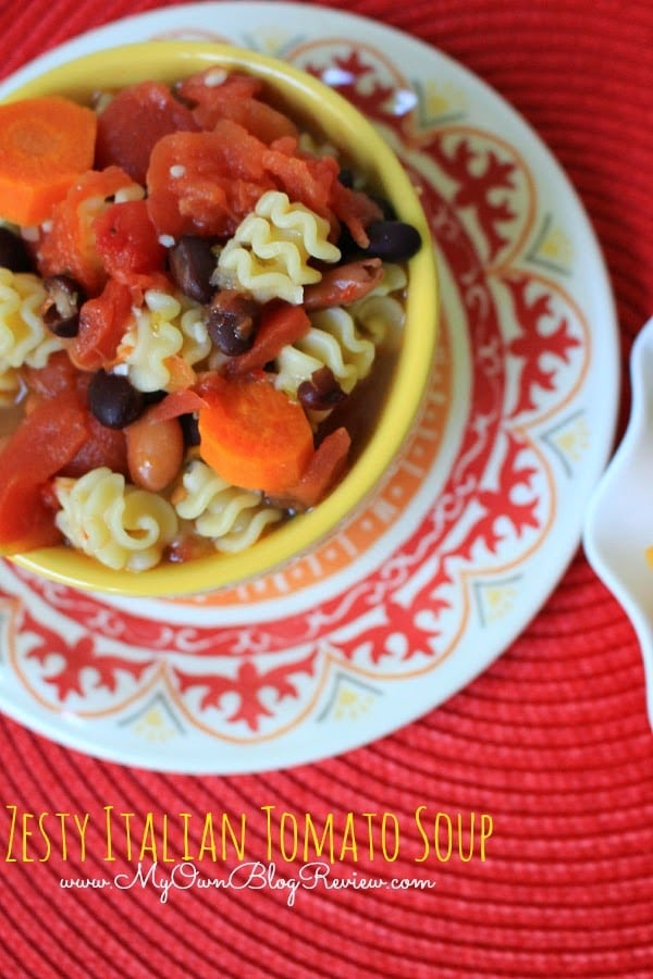 Zesty Italian Tomato Soup and other budget friendly meals with KRAFT on embellishmints.com #shop
