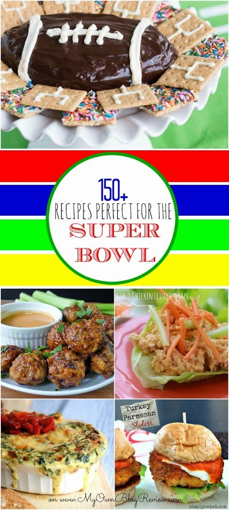 Over 150 Recipes perfect for the Super Bowl that you and your guests are going to love! Find them on Embellishmints.com