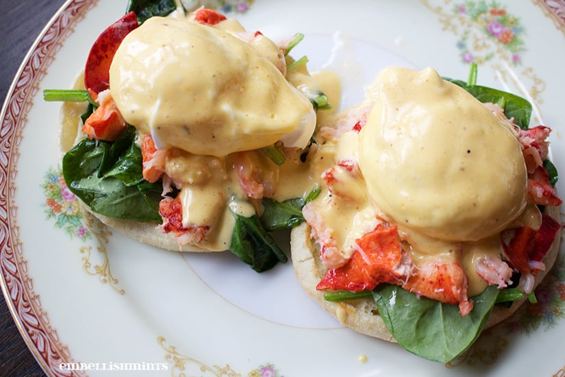 Lobster Benedict. Pomp & Circumstance, in Old Town Chicago, features seasonal flavors that combine familiar dishes with a contemporary touch using only the freshest ingredients. You will never be disappointed. www.Embellishmints.com