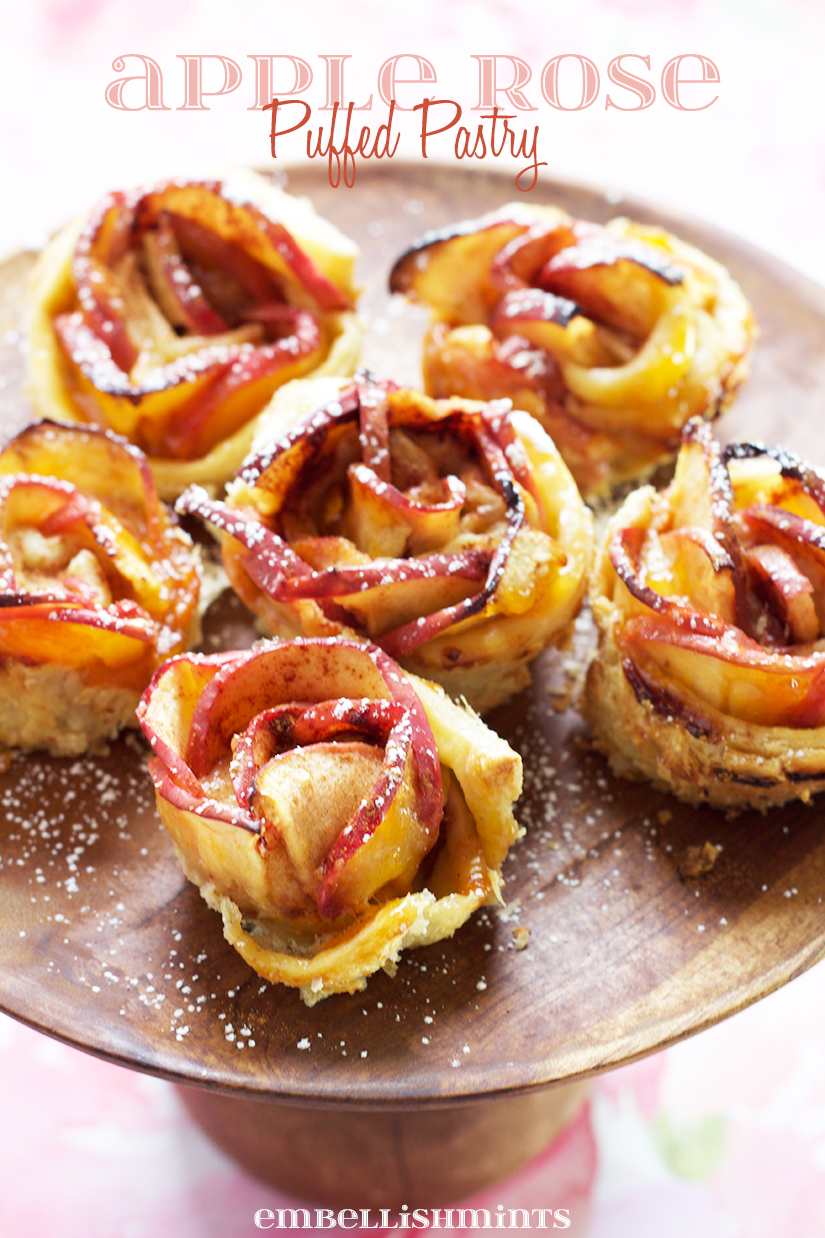 This year for your big Party make cute desserts that aren't extremely difficult but oh so pretty! These easy Apple Roses in a Puffed Pastry will impress all your guests. If you can keep them around long enough for everyone to arrive! Get the recipe at Embellishmints.com
