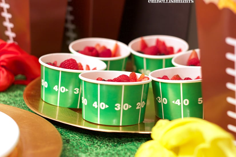 The cutest little cups for the Big Game! www.Embellishmints.com