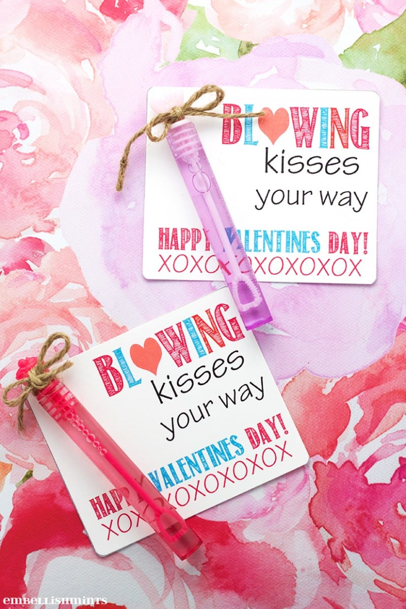 picture regarding Bubble Valentine Printable titled Do-it-yourself Blowing Kisses Your Direction Bubbles Valentine