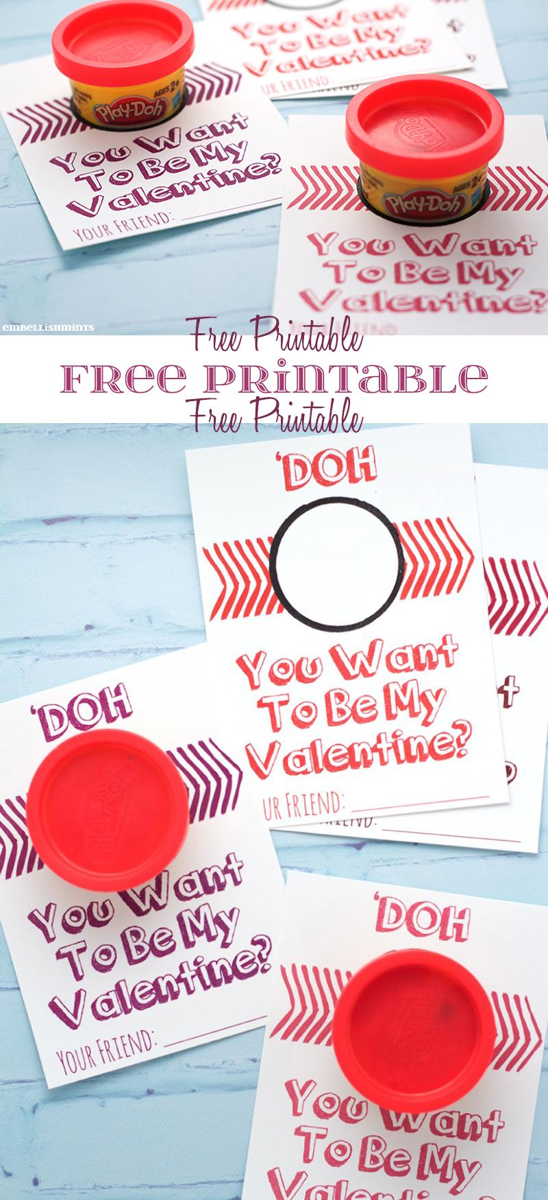 Kids love Play-Doh so it only seems fitting to have a Handmade Play-Doh Valentine for kids to pass out to their friends this Valentine's Day!