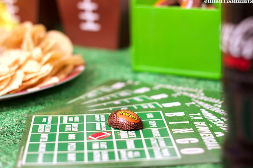 TV Commercial Bingo, Coca-Cola and REESE's for the perfect party with friends! www.Embellishmints.com