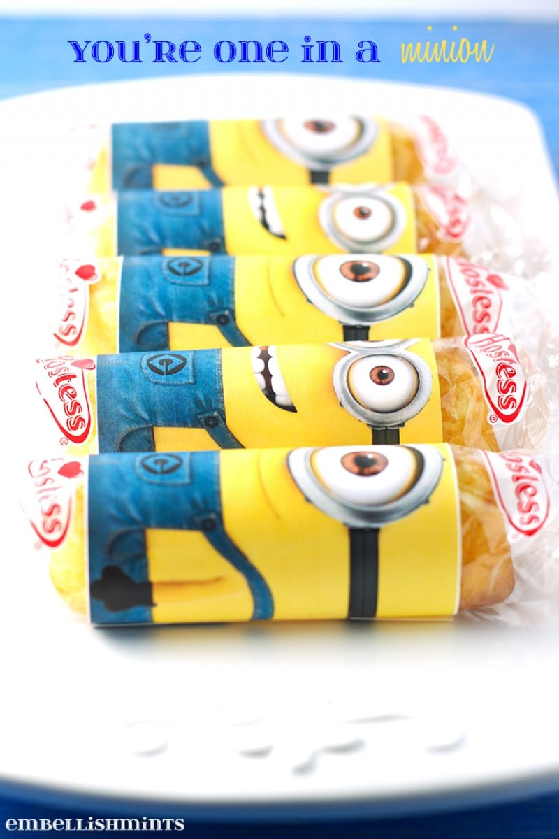 Via Tonya Staab Youu0027re One In A Minion Twinkie Printable Is Such A Cute  Handmade Valentine Idea