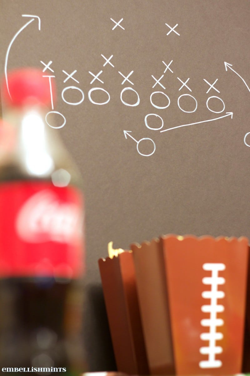 Football Play. Football Game Tablescape Inspiration www.Embellishmints.com