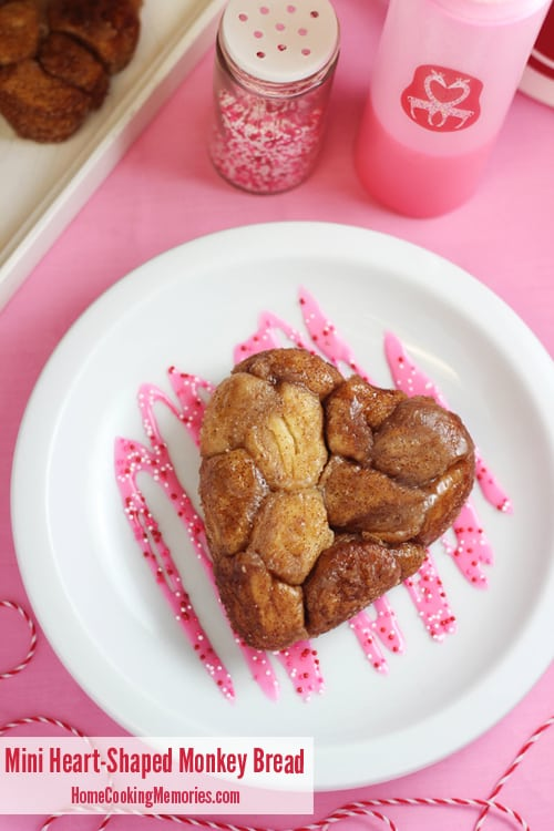 Mini Heart Shaped Monkey Bread