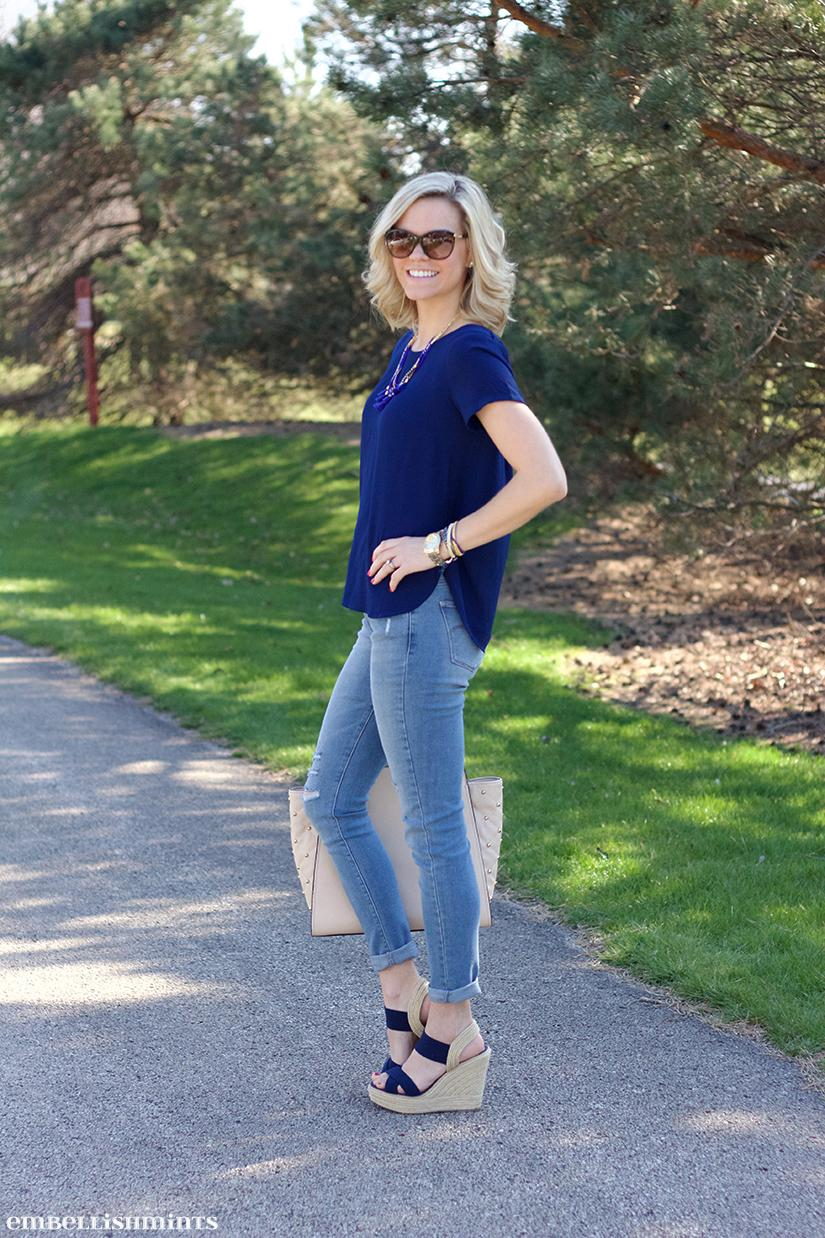 For me summer is all about great sandals, so today I'm sharing some inspiration for styling Espedrilles, One of the hottest summer shoe trends this year! www.Embellishmints.com