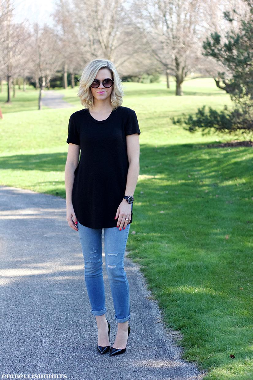 What To Wear When You Feel Bloated. It doesn't matter how skinny you are, we all have days where we feel bloated. Here are my tips for getting dressed when you feel bloated. These tips work for first trimester pregnancies as well. www.Embellishmints.com
