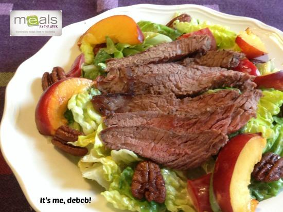 Steak Salad with Nectarines and Spiced Pecans