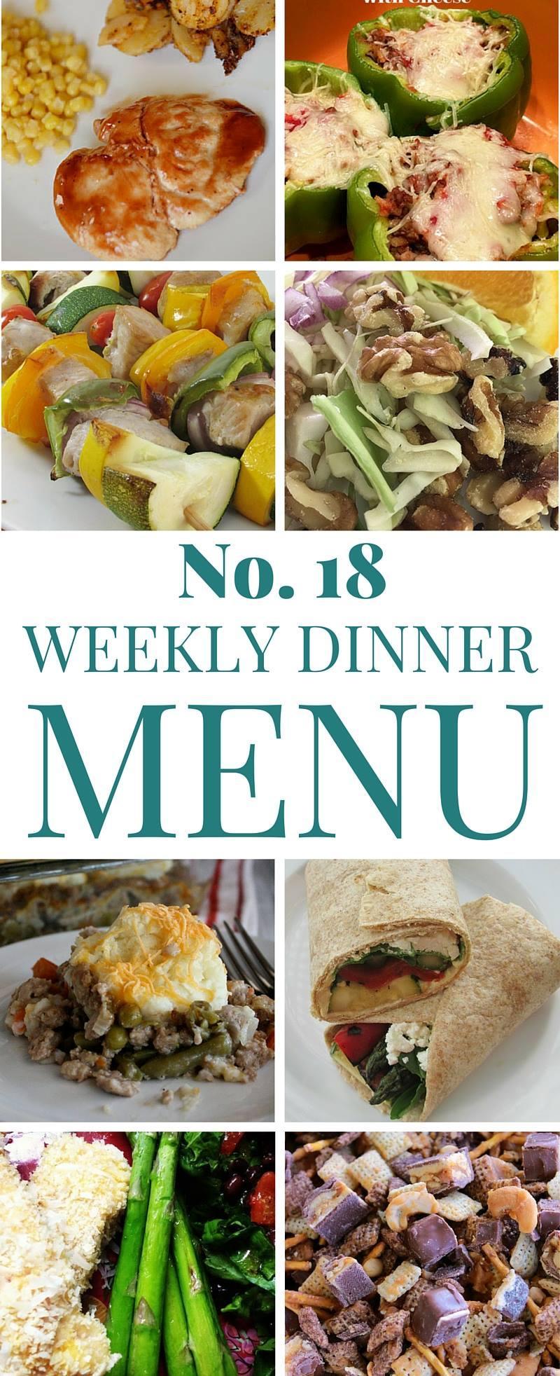 Weekly Dinner Menu Ideas