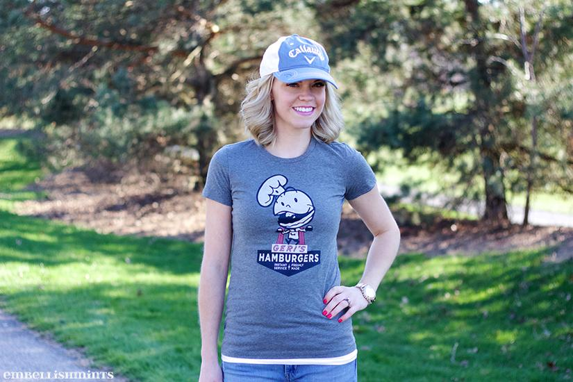 Dress up a T-shirt and hat for everyday! Bygone Brand T-Shirts on Embellishmints.com