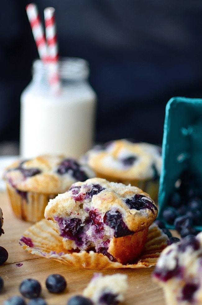 Blueberry Muffins Recipe. Link found on www.Embellishmints.com