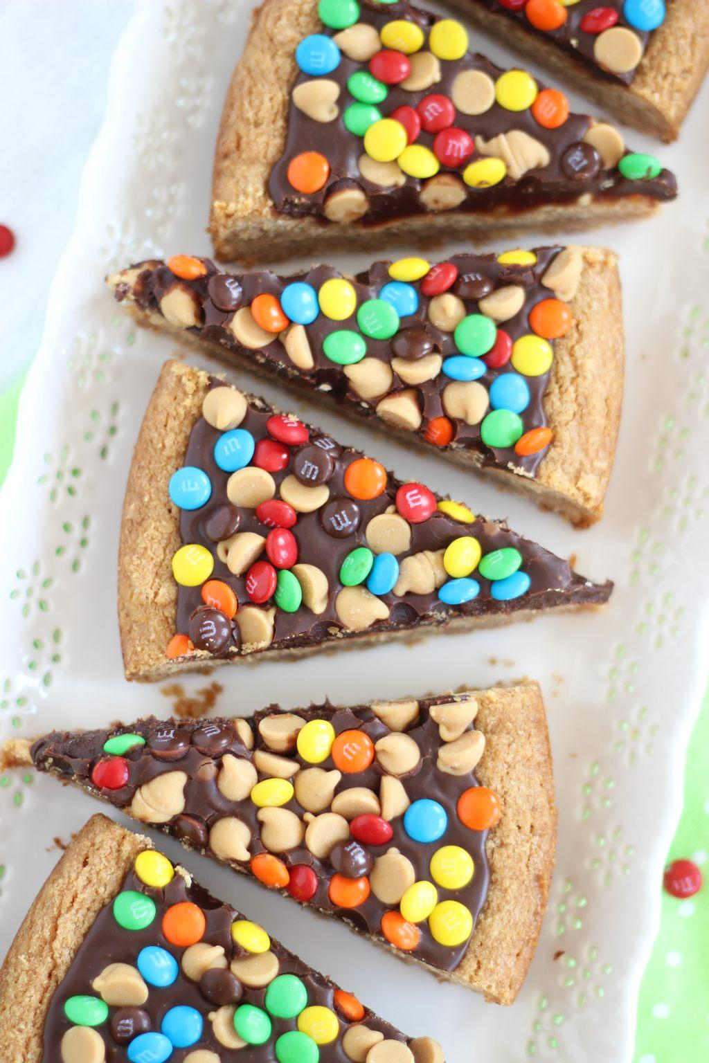 Chocolate Peanut Butter Cookie Pizza from this week's LP on Embellishmints.com