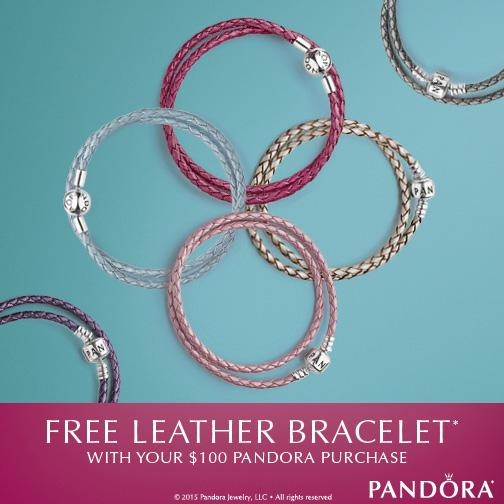 PANDORA Leather Bracelet is the perfect piece of jewelry for your summer wardrobe. They are lightweight and adjustable. Perfect bracelet, and even necklace! www.Embellishmints.com