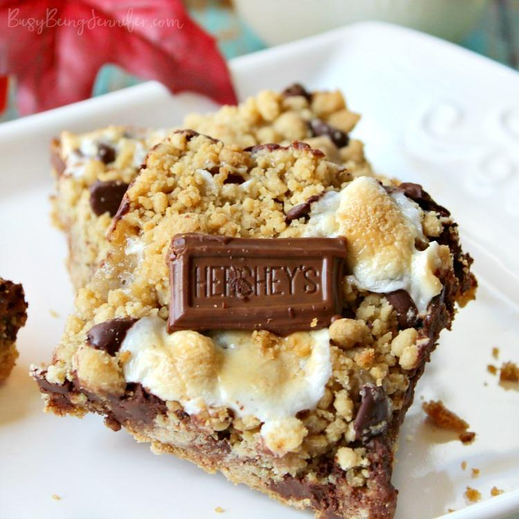 These Ooey Gooey S'mores Bars are for sure my favorite from this week's Linky Party! You have to get the link to the recipe from Busy Being Jennifer here! xoxo