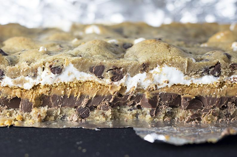 Chocolate-Chip-Cookie-Peanut-Butter-Smores-Bars