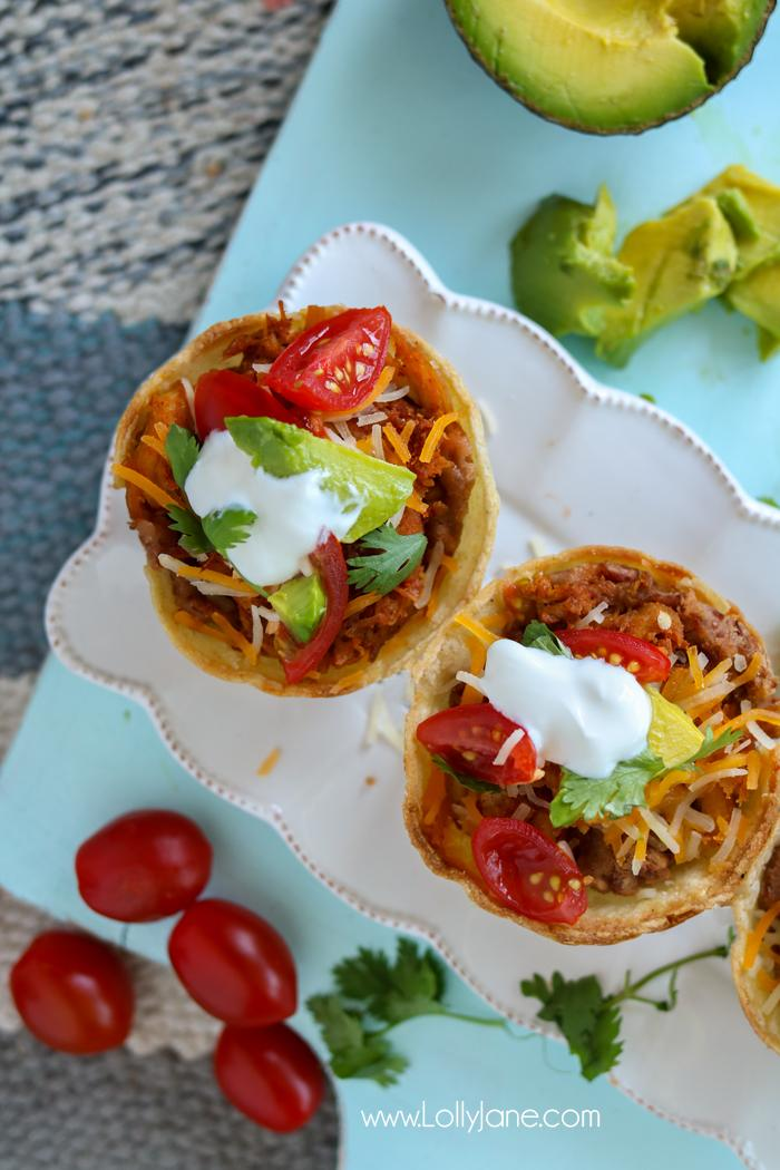 My favorite from last week's Linky Party has to be this Easy Taco Cups Recipe from LollyJane. They are made in under an hour and so easy to customize. You will love them!