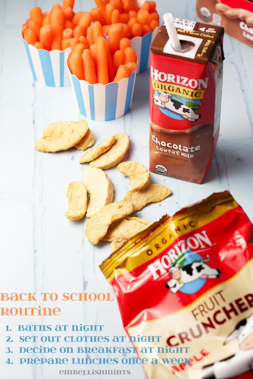 Getting back into the Back To School Routine can be difficult! Follow my step-by-step instructions for making your school lunch routine easier! Find out more on www.Embellishmints.com