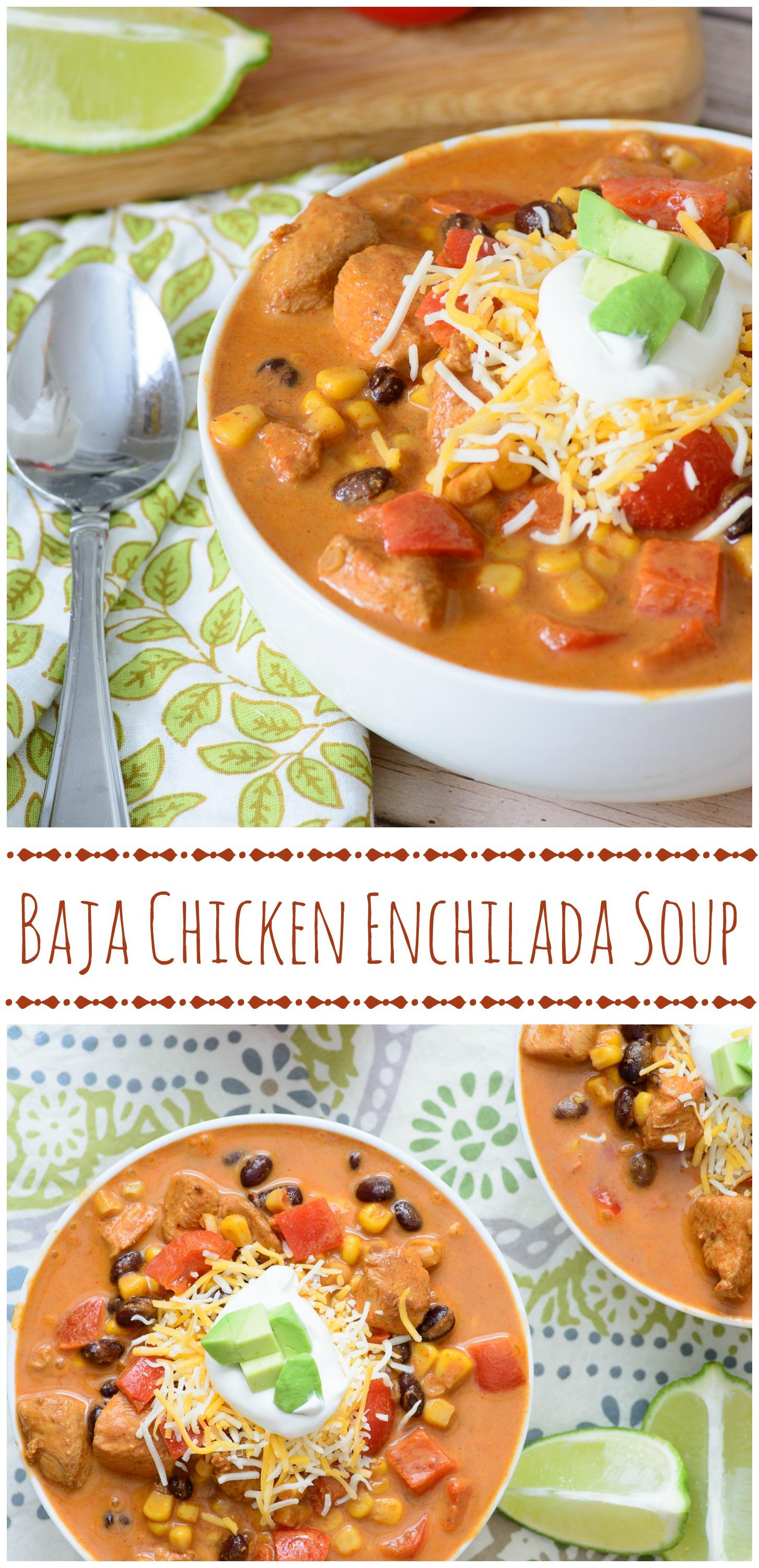 My favorite post from last week's Linky Party is this delicious Baja Chicken Enchilada Soup from Almost Supermom! It's delicious, hearty, and perfect for the cold nights ahead! Find the link here.