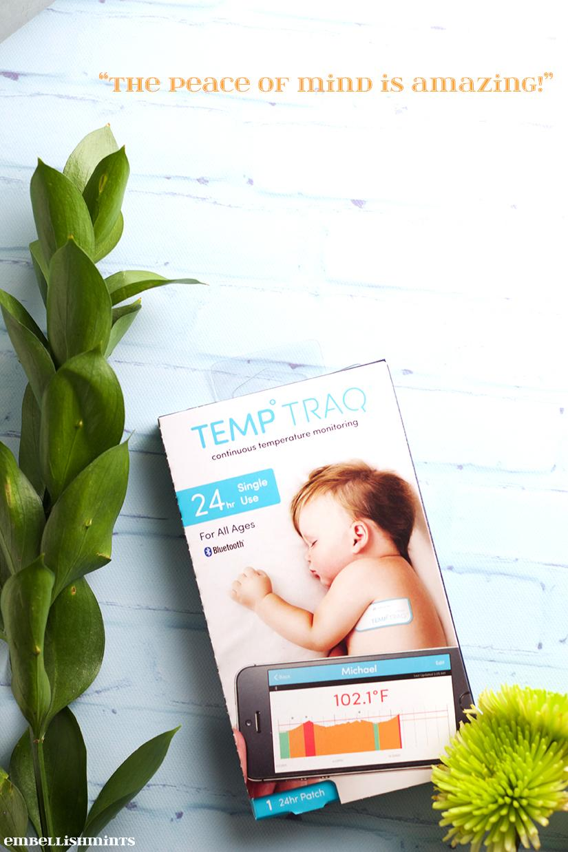 The TempTraq® a Bluetooth temperature monitor that continuously monitors body temperature. Find out how it works and never disturb your baby again. Find out how on www.Embellishmints.com