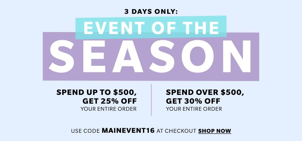Shopbop End of The Season Sale. 3 Days ONLY! Shop now, and get the most discounts with THIS DISCOUNT CODE, found at www.Embellishmints.com