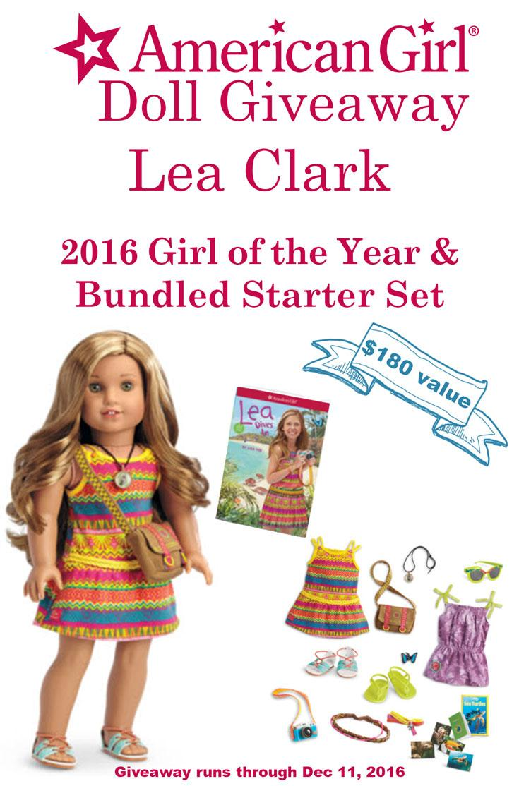 Enter To Win an American Girl Doll! This Lea Clark 2016 Girl of the Year & Bundle Starter Set could be yours.!.