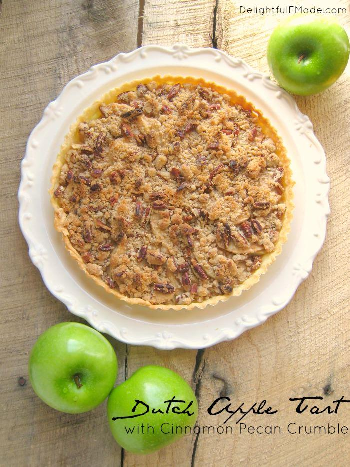 My favorite post from this week's linky party is this delicious Dutch Apple Tart from Delightful E Made! Get the link to the recipe here.