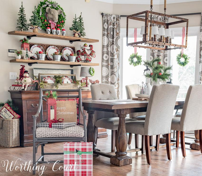 My favorite from this week's Linky Party: Festive Christmas Colors Holiday Home Tour by Worthing Court. I love all of the colors on the mantel and tree!