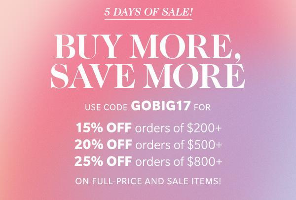 Shopbop Sale: Buy More Save More