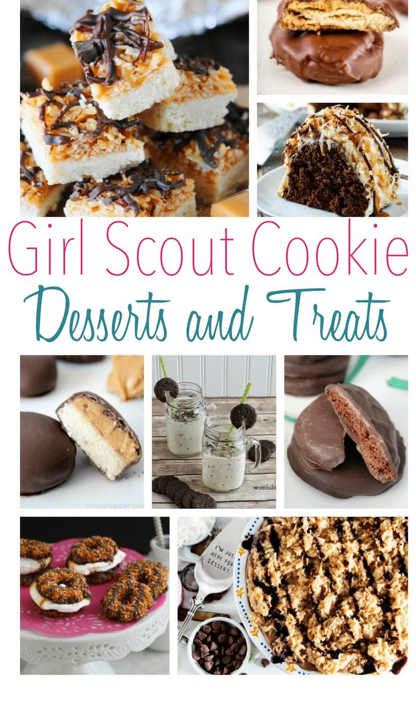 Dessert Recipes! Girl Scout Cookie Desserts and Treats including cookies, shakes, bars, etc. www.Embellishmints.com