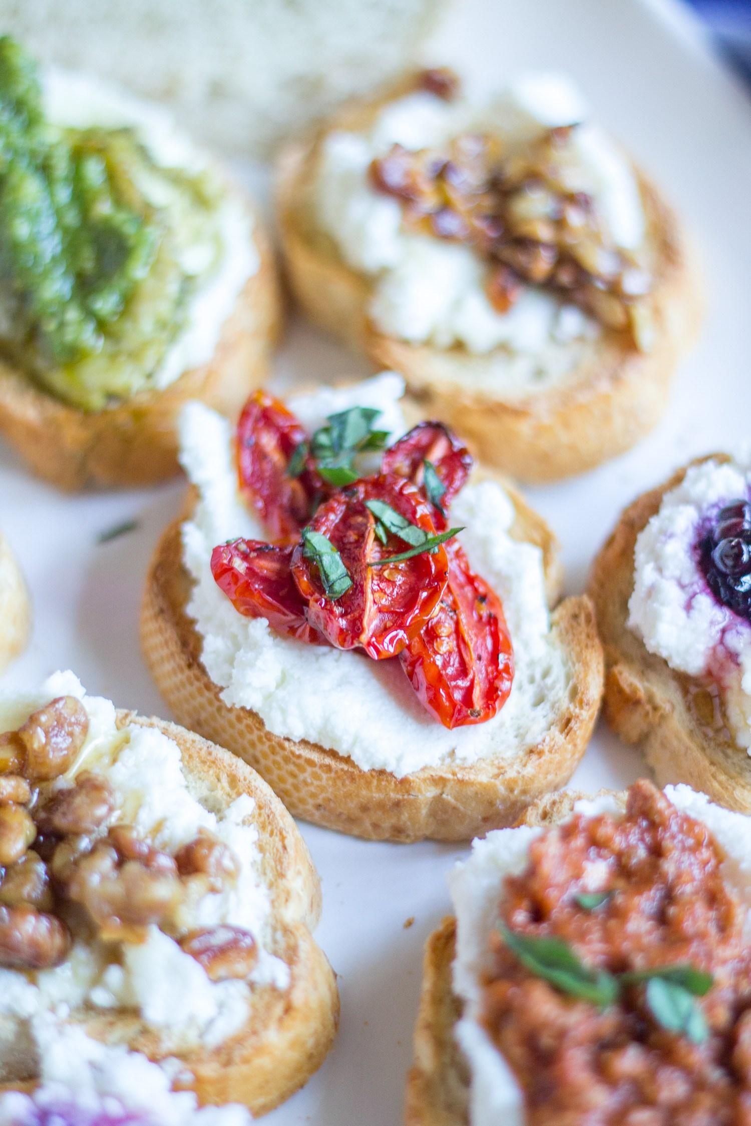 Creative ways to make Ricotta Toast, from The Kittchen, from this week's Linky Party!