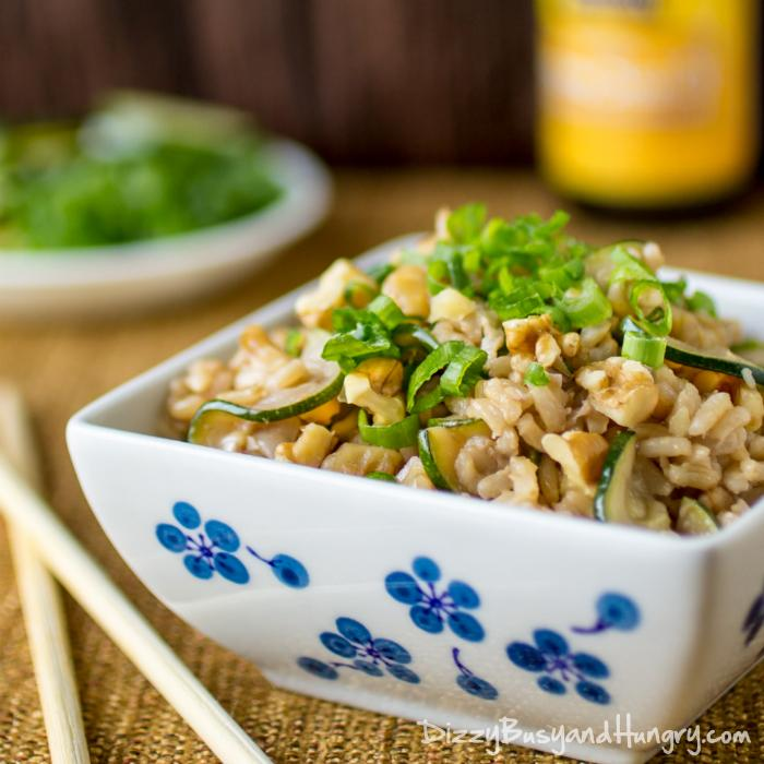 This week's Linky Party must make has to be this Vegan Zucchini Walnut Fried Rice from Dizzy Busy and Hungry - Skip the Chinese takeout - I can't wait to see my 3-year-old devour it! This healthy and tasty fried rice is so easy to make! www.Embellishmints.com
