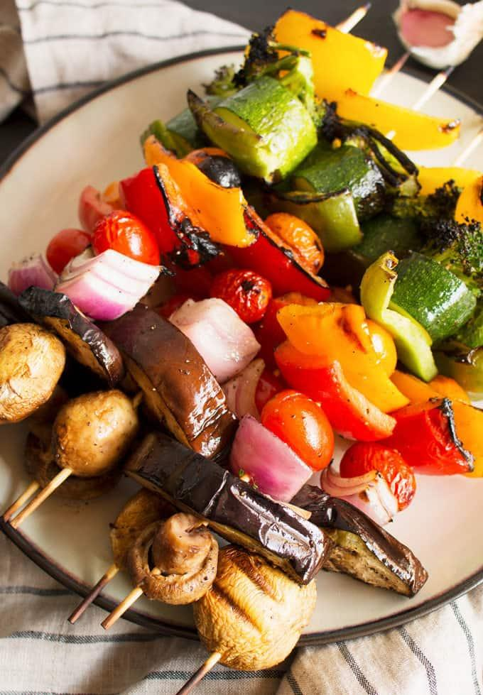 This week's Linky Party: Rainbow Veggie Kabobs, and Vegan Smoked Potato Soup. YUM! I cannot wait to try this Smoked Potato Soup. Veggies are always on our menu so these kabobs will be a fun way to mix it up!