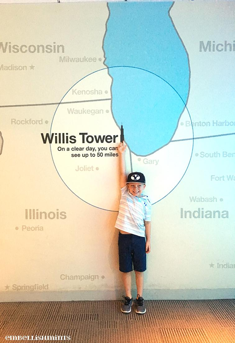 Willis Tower Chicago: Skydeck Willis Tower is a must do when you travel to Chicago. Your family will love the experience, especially the children. www.Embellishmints.com
