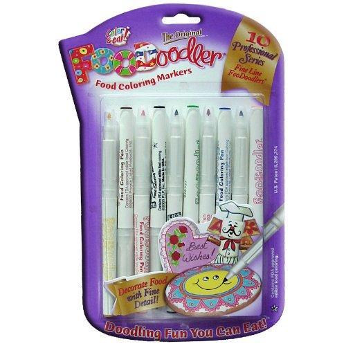 Foodoodler 10 pc Color Fine Line Marker Set. Perfect for food!
