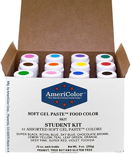 AmeriColor Gel Food Coloring is great for making bright, vibrant frosting and royal icing colors!