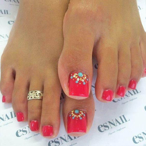 Toe Nail Designs for Spring Winter Summer Fall. My next nail idea. Simple  and - Nail Designs For Sprint Winter Summer And Fall. Holidays Too!