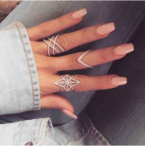 Nail Designs For Spring Winter Summer Fall Cute Nude Coffin Nails