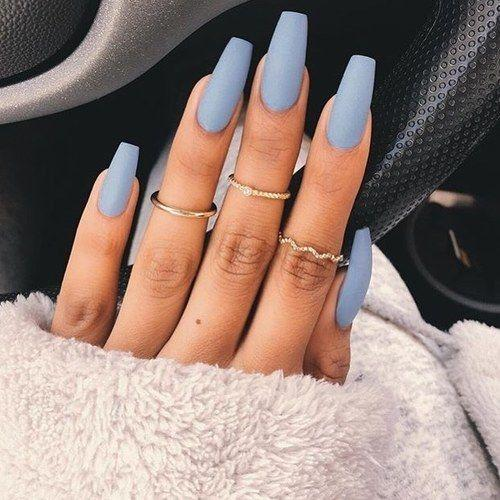 Nail Designs for Spring Winter Summer Fall. Matte Periwinkle