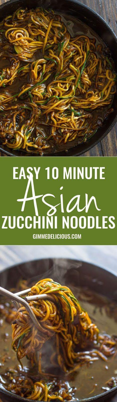 Eat Yourself Skinny With Zoodles. 10 Minute Asian Zucchini noodles from Gimme Delicious!