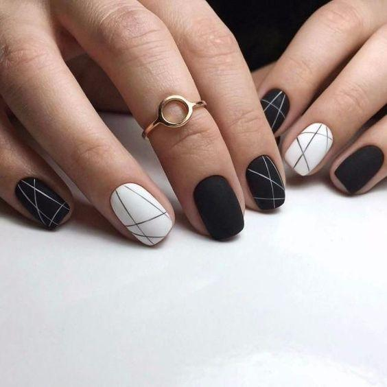 Nail Designs For Spring Winter Summer Fall 30 Black Nail Designs